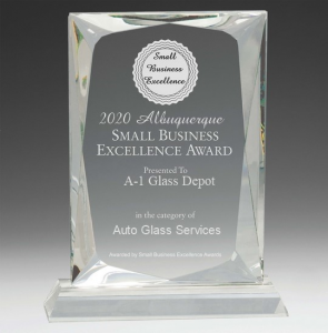 A1 Glass Depot won the 2020 Small Business Excellence Award